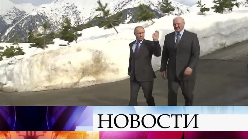Владимир Путин и Александр Лукашенко обсуждают в Сочи перспективы евразийской интеграции.