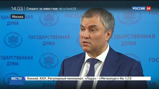 Новости на Россия 24 • Володин считает ошибкой уголовное наказание за избиение близких