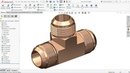 Solidworks tutorial Male Union Tee Adapter