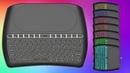 Мини клавиатура с тачпадом и восьмицветной подсветкой кнопок D8 обзор