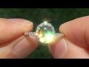 Estate UNHEATED Natural VVS1 Mali Garnet Diamond 14k Yellow Gold Ring - A141706