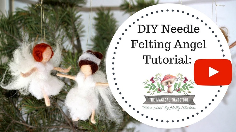 Needle Felted Waldorf Inspired Angel Ornament A Beginning DYI Needle Felting Kit available!!