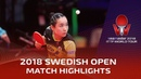 Mima Ito vs Zhu Yuling I 2018 ITTF Swedish Open Highlights Final
