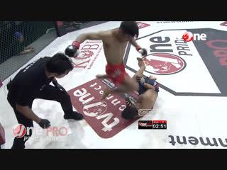 Суровый индонезийский граунд-энд-паунд (правила позволяют). One Pride - Fight Night 23.