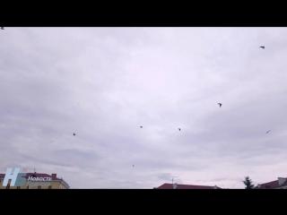 Репетиция авиационной части парада