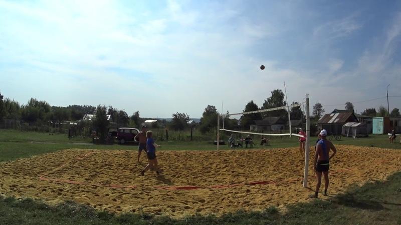 Игра 3 Пляжный волейбол - закрытие сезона микст Новосиль 2018/09/15