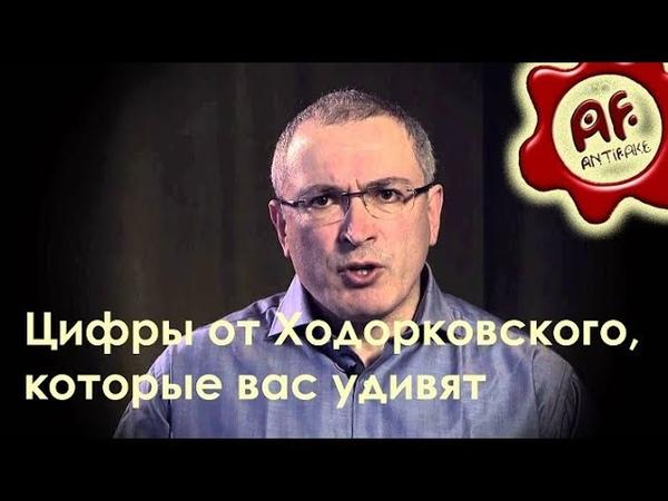 Цифры от Ходорковского, которые вас удивят