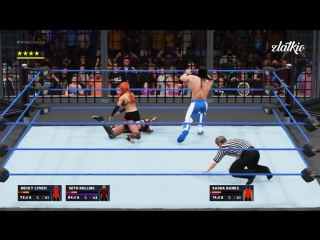 Becky Lynch vs. Seth Rollins vs. Bayley vs. Sasha Banks vs Andre The Giant vs Demon Kane (WWE 2K18)