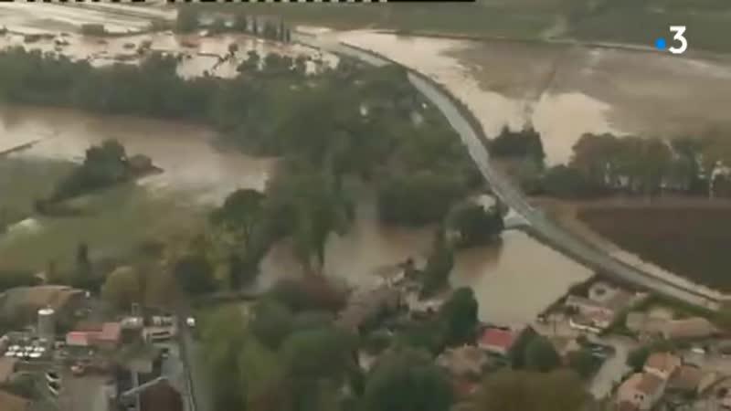 Les impressionnantes images aériennes des inondations dans