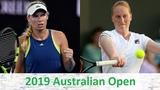 Caroline Wozniacki vs Alison Van Uytvanck 2019 Australian Open Highlights