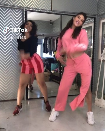 "Jacqueline Fernandez on Instagram: ""When you trying to get work done but you can't get this song out of your head @indiatiktok @shaziasamji @piy..."