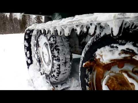 Хома 15, с мотором 24л.с,катаемся по снегу.
