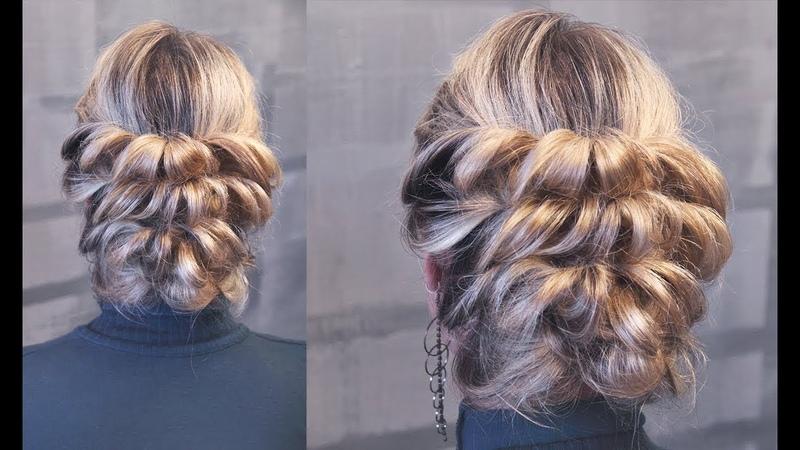 Причёска с резинками 5 минут | Авторские причёски | Лена Роговая | Hairstyles by REM | Copyright ©