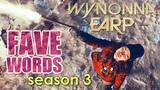 Wynonna Earp FAVE WORDS (season 3)