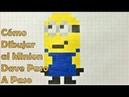 Cómo Dibujar al Minion Dave en Pixel Art o 8-bit TUTORIAL PASO A PASO Mi Villano Favorito