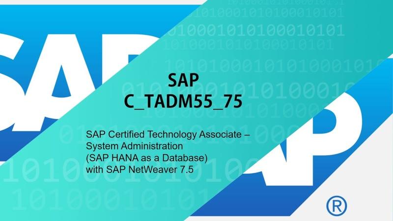 SAP C_TADM55_75 Questions - C_TADM55_75 Exam Braindumps
