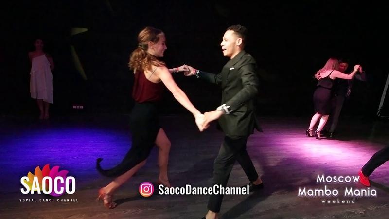 Charlie Garcia and Natasha Chumakova Salsa Dancing at Moscow MamboMania weekend, Saturday 27.10.2018