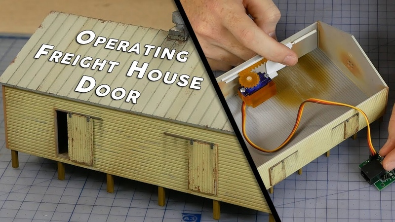 Build, Paint Animate a Working Freight House - Model Railroad Scenery