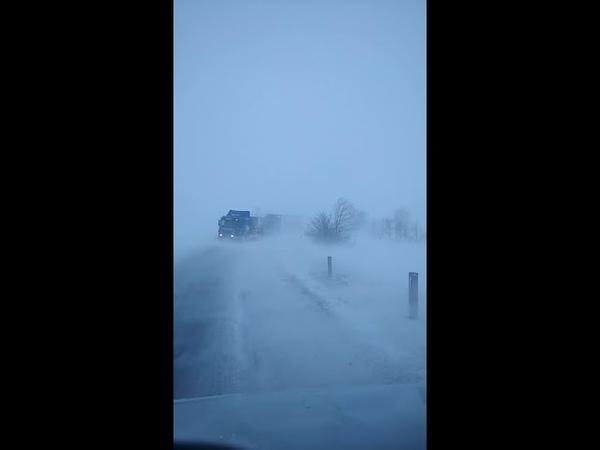 Водители большегрузов ждут помощи МЧС на трассе Саратовской области