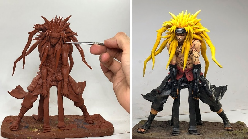 Naruto Akatsuki SCULPTURE / Concept Art The power of Kyuubi