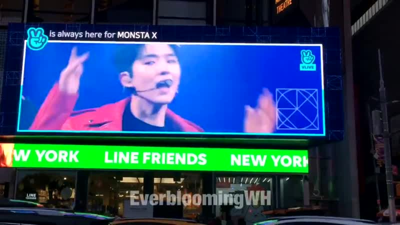 VK 181207 MONSTA X promo video at Line Friends Times Square New York