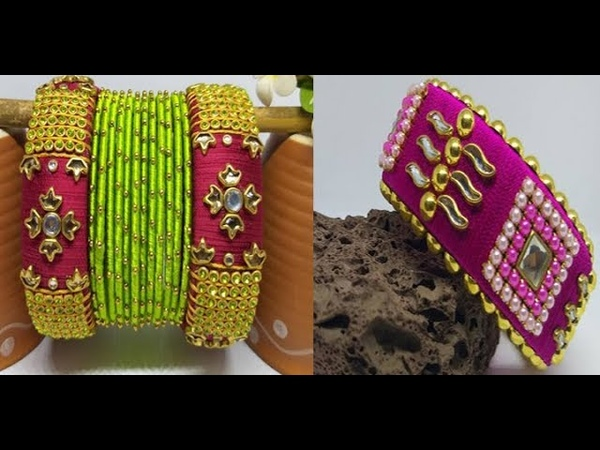 Silk Thread Bangles New Images For Girls
