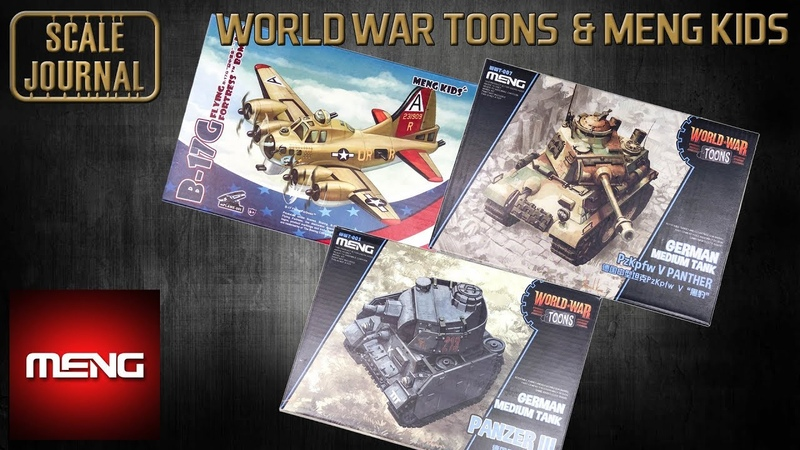 ОБЗОР: Panzer III, PzKpfw V Panther, B-17G Flying Fortress (World War Toons Meng Kids)