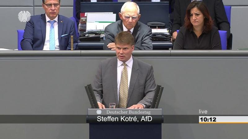 Bundestagsrede von Steffen Kotré (AfD) Merkel sitzt lieber vor der türkischen Fahne (27.09.2018)