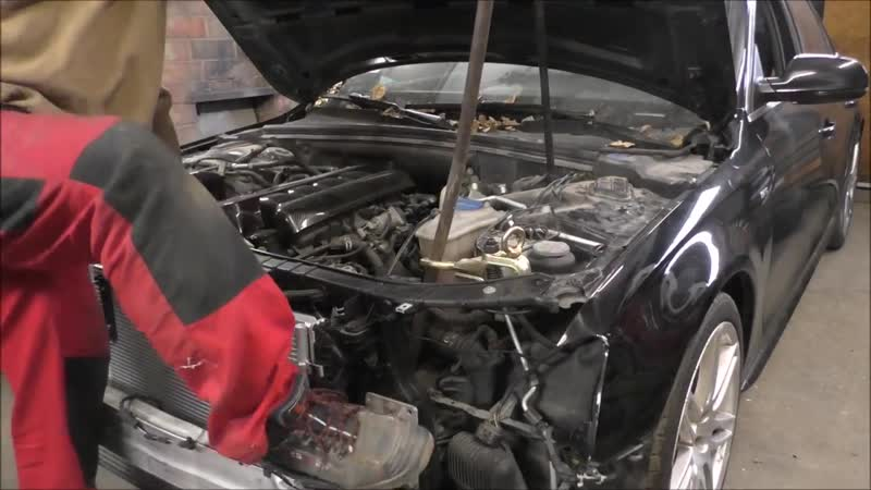 Audi A6. The easy repair of the front end. Легкий ремонт переда