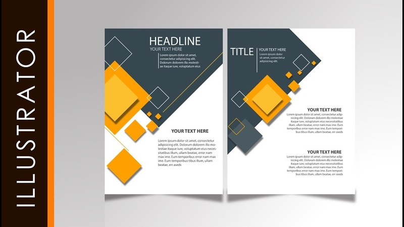 Tutorial Easy Brochure Design Tutorial Simple Yellow Using Adobe Illustrator