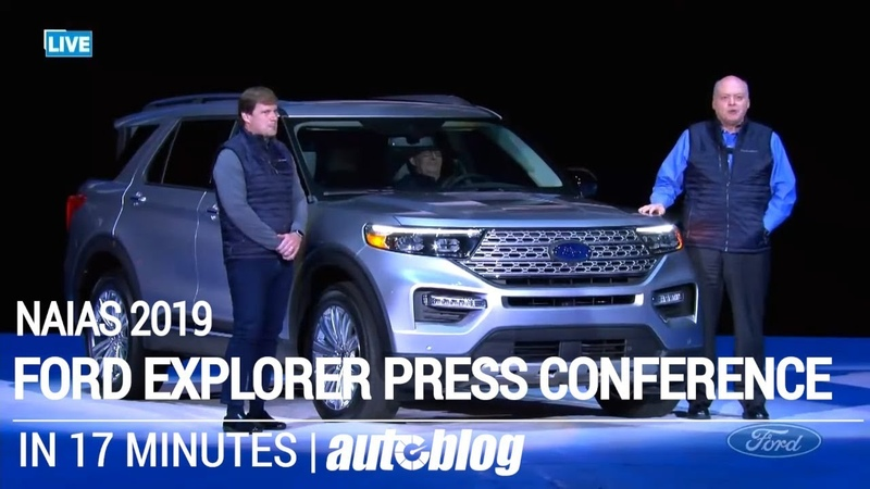 2020 Ford Explorer Press Conference in 17 minutes NAIAS 2019