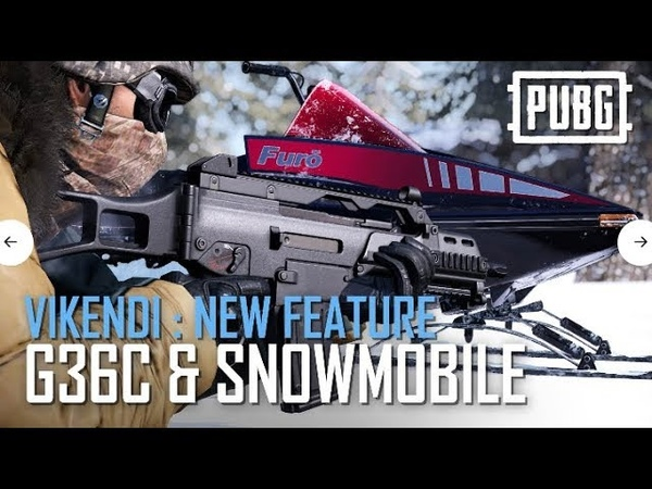 PUBG - Vikendi: New Features - G36C and Snowmobile
