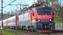 По 4 неправильному пути Электровоз ЭП20 027 с фирменным поездом №30 Москва Новороссийск