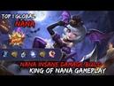 Nana Insane Damage Build 9-3-18 KDA Gameplay By Top 1 Global - Mobile Legends