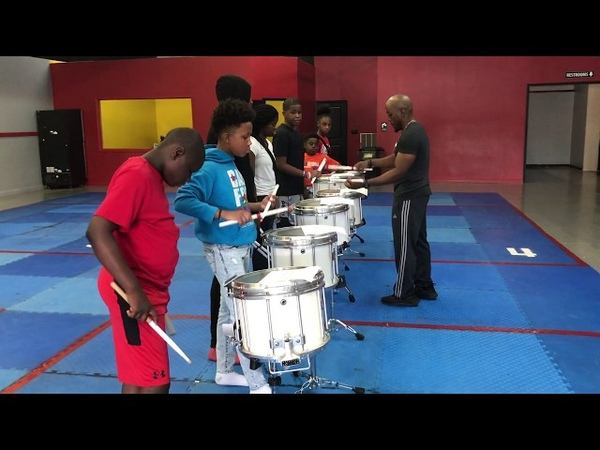 Learning a new snare drum solo with Atlanta Drum Academy