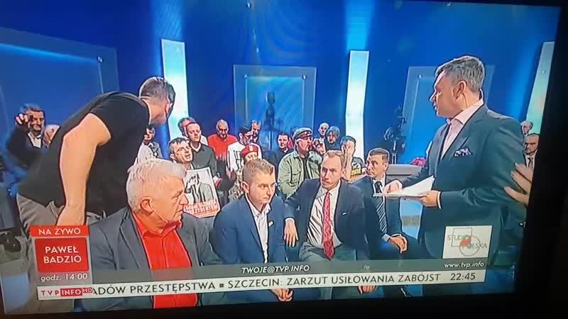 Awantura w TVP INFO - studio Polska -13102018.(videoo.info)