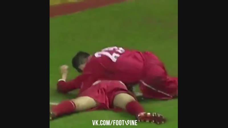 Первый гол Стивена Джеррарда за Ливерпуль