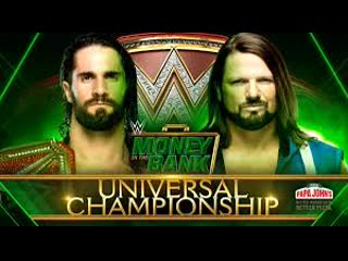 Seth Rollins(c) Vs AJ Styles Highlights (WWE Money in the Bank 2019⁄/Universal Championship Match)