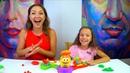 ЧЕЛЛЕНДЖ ПРЯМО В ЦЕЛЬ с Плей До CHALLENGE Play Doh Launch Game for kids Вики Шоу