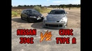 Nissan 350z 300 л.с vs Honda Civic Type R. Достойный Баттл