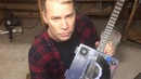 Transparent Cigar Box Guitar with Built in Amplifier and Reverb