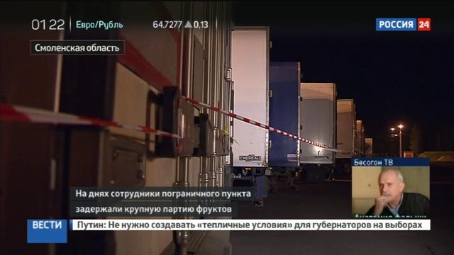 Новости на Россия 24 • Детектив под Вязьмой: санкционные яблоки везли под видом крахмала