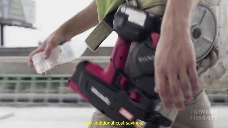 MAX TWINTIER RB441T Battery Operated Rebar Tying Tool Product Introduction Video