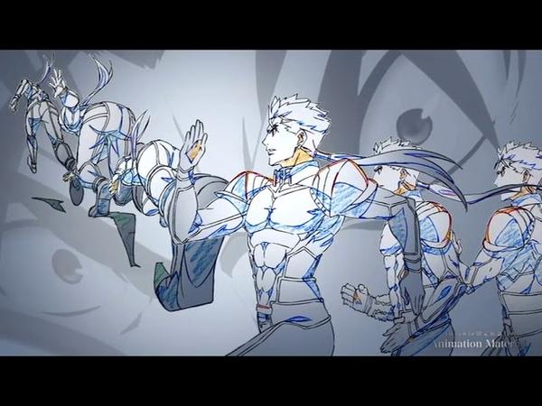 「Fatestay night [Heavens Feel] 」Animation Material Ⅲ 貴重なメイキング「Lancer VS True assassin ランサーVS真アサシン」