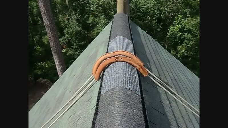 Как оставить протектор на коньке крыши