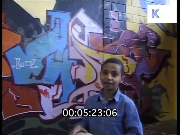 1990s London Graffiti, Kids Playing Basketball