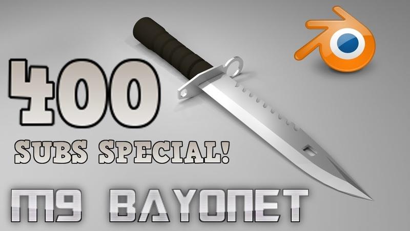 M9 Bayonet knife [Blender Timelapse]