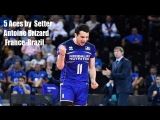 5 Aces by Setter Antoine Brizard in match France-Brazil