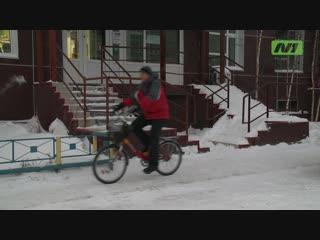 Каково быть велосипедистом в Нижневартовске? А зимой?