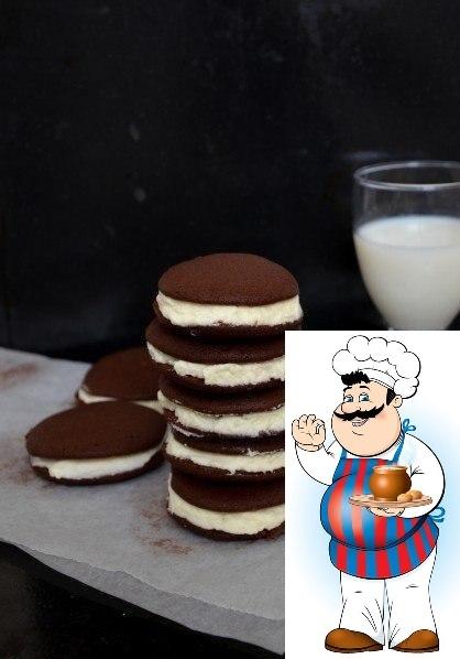 Шоколадные Whoopie со сливками